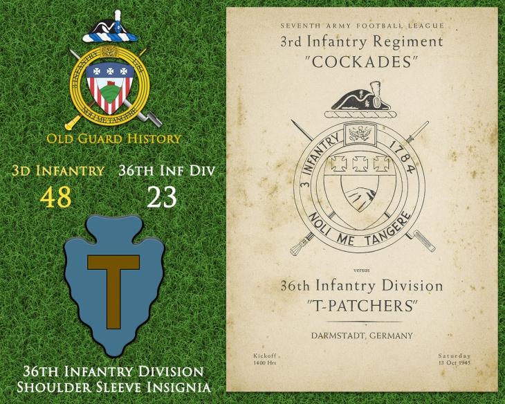 10-13-Football vs. 36th Infantry Division