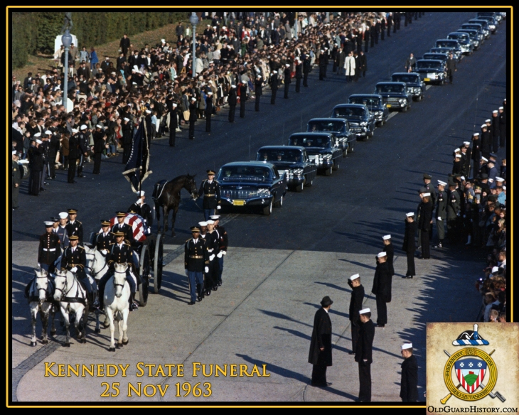 Procession for State Funeral for President John F. Kennedy, 25 November 1963.